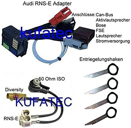 RNS-E Bundle RNS-E Adaptador + adaptador antena + herramienta ...