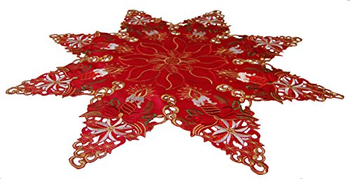 EcoSol Designs Embroidered Table Topper Centerpiece (33.5