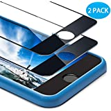 For iPhone 8 Plus/ 7 Plus Screen Protector, Ocyclone 9H Bubble-Free and Case Friendly Full Coverage Tempered Glass Screen Film with Alignment Frame for iPhone 8 Plus 7 Plus - 5.5'' (2Pack) Black