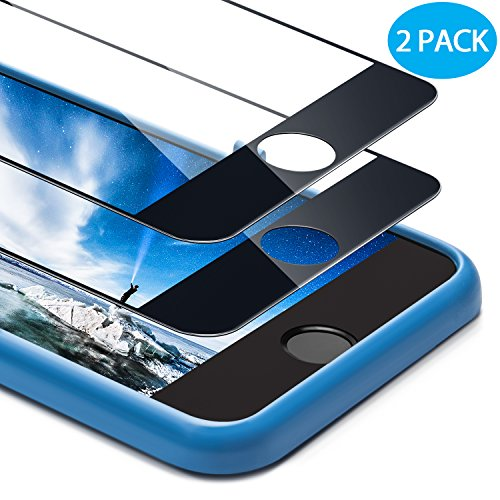 For iPhone 8 Plus/ 7 Plus Screen Protector, Ocyclone 9H Bubble-Free and Case Friendly Full Coverage Tempered Glass Screen Film with Alignment Frame for iPhone 8 Plus 7 Plus - 5.5 (2Pack) Black