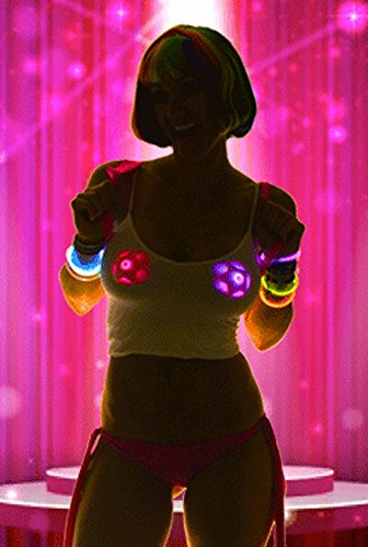 Sasswear Pink Star Light up LED Pasties Nipple Covers