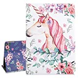 Cute iPad Case 9.7, Unicorn iPad 9.7 Case, Pink Tablet Case for iPad Air 2 with Auto Sleep Wake Function, Smart Lightweight Protective Cover for iPad 6th/5th Gen 2018,Rose