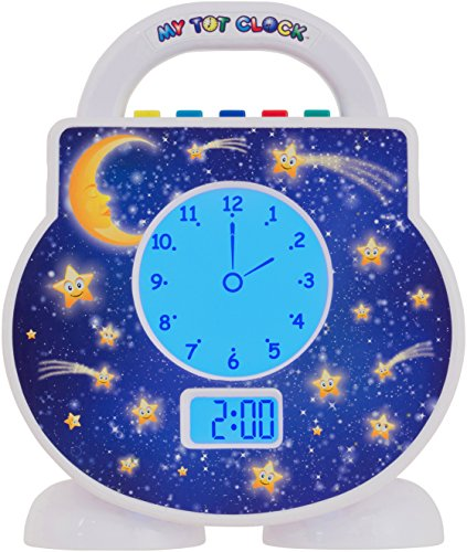 My Tot Clock (All-in-One Toddler Sleep Clock, Alarm Clock, Timeout Timer, and Activity Timer...Includes Bed Time Stories, Lullabies, White Noise, and Wake Music) (A 1 Clock)