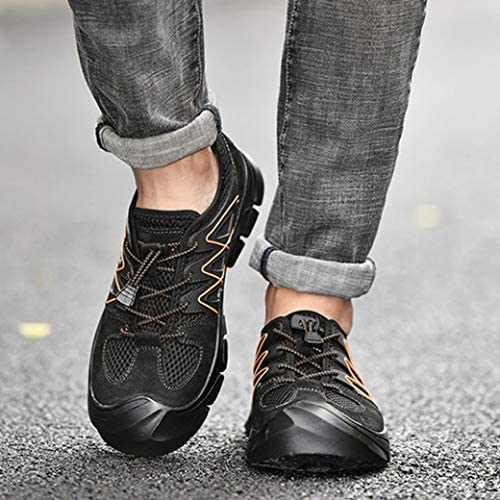 アウトドアシューズ メンズシューズ メッシュ 防滑 トレッキングシューズ 登山靴 メンズブーツ ワークブーツ ハイキング メッシュ 通気性 カジュアルシューズ クッション 靴 防臭 履きやすい 歩きやすい 疲れにくい