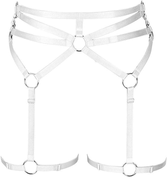 Arnés de Cuerpo para Mujer, lencería de Pierna Punk, cinturón ...