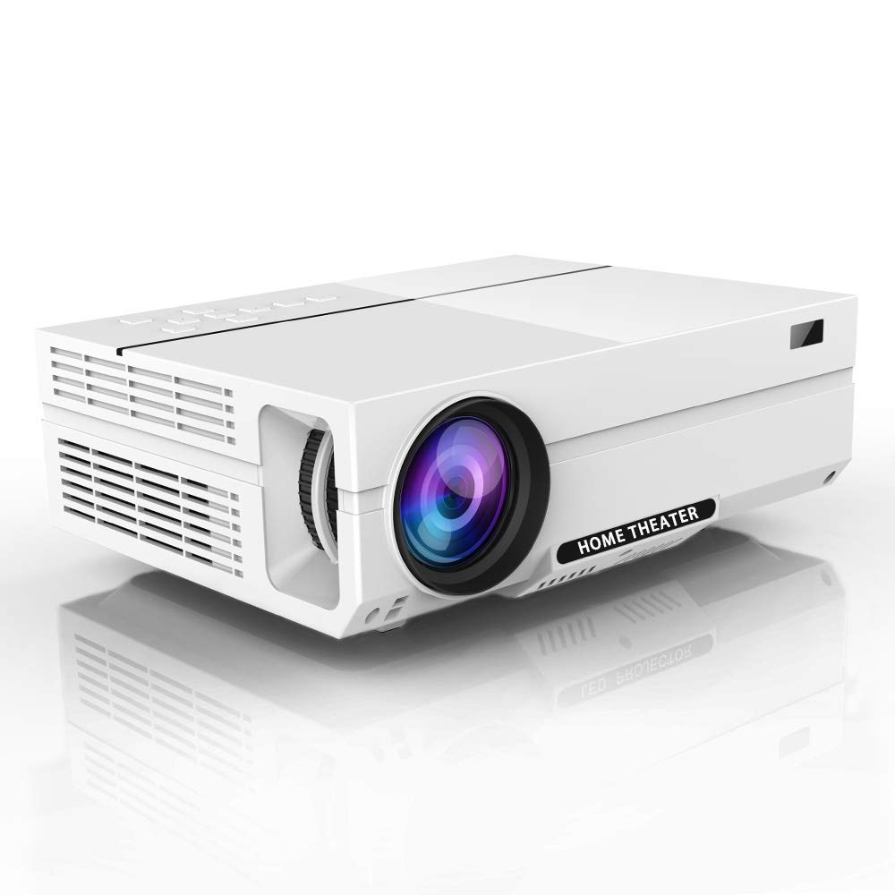 "1080P Projector, Salange HD Video Projector with 1920x1080P, 5000 Lumens, 200"" Display,Dual 3W Speakers,±45 °Keystone Correction,Support HDMI VGA AV USB Ideal for Home Theater, Entertainment Game"