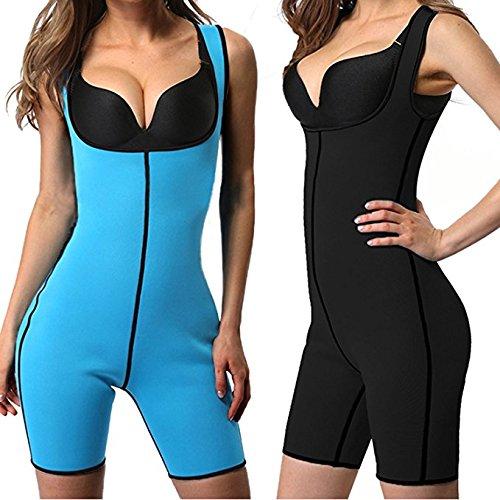 58cc2d15d Amazon.com   cross1946 Women Neoprene Full Body Shaper Sport Sweat  Compression Bodysuit Waist Trainer Slimming 2XL   Sports   Outdoors