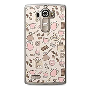 Pink Brown Beige LG G4 Transparent Edge Case - Bakery Collection