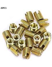 Ftvogue 20Pcs 302 Inserto de Rosca Autorroscante de Acero Al Carbono Kit de ReparacióN de Bujes Kit de ReparacióN de Roscas Inserte(M2*0.4 Outer M4.5 * 0.5)