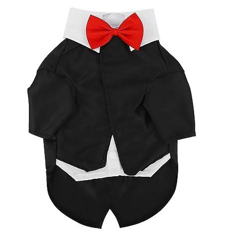 Perros Formal Tuxedo Party Suit Pet Ropa para Perros Traje Camisa ...