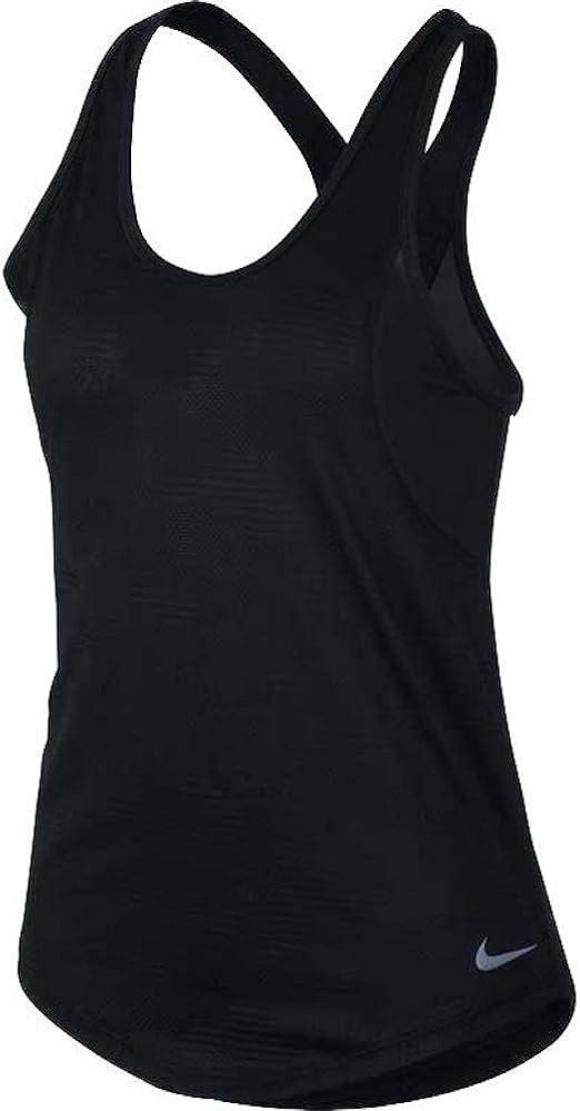 : NIKE Miler Women's Running Tank (Black, M): Clothing
