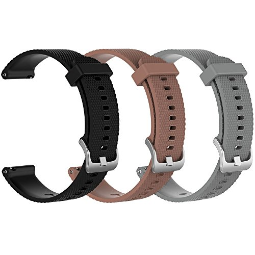 ZSZCXD Band for Garmin Vivoactive 3/Vivomove HR, Silicone Replacement WatchBand Strap Band Wristband for Garmin Vivoactive 3 and Garmin Vivomove HR (3Pcs,002, Small)