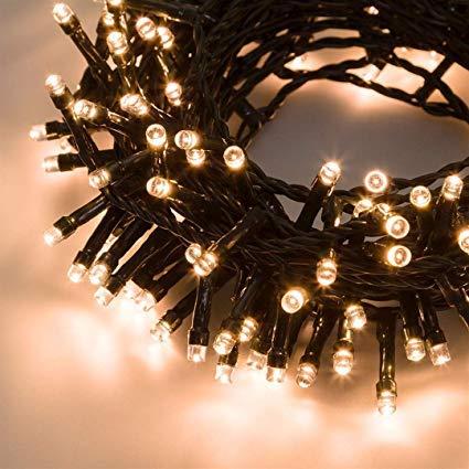 anna flowers Serie 500 luci di Natale a LED Caldo Catena 40 mt per Uso Esterno ed Interno con 8 Giochi di Luce