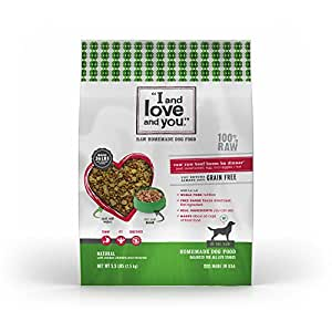 """""""I and love and you"""" In the Raw 'Raw Raw Beef Boom Ba' Homemade Freeze Dried, Grain Free Dehydrated Dog Food, 5.5 LB"""