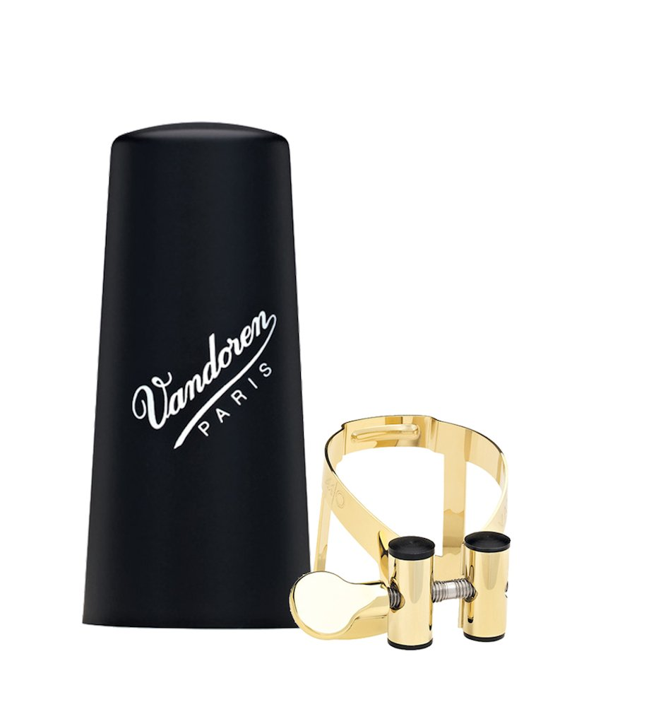 Vandoren LC51GP M/O Ligature and Plastic Cap for Bb Clarinet; Gold Plated