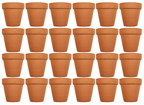 - Set of 24 Archway Lawn & Garden Mini Flower Pots - 2.5