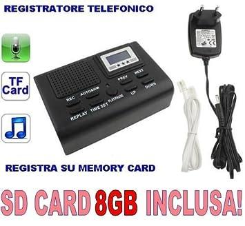 Hochwertig CW51 Telefon Recorder DIGITAL SD Karte Enthalten 4GB SPY SPY BUG