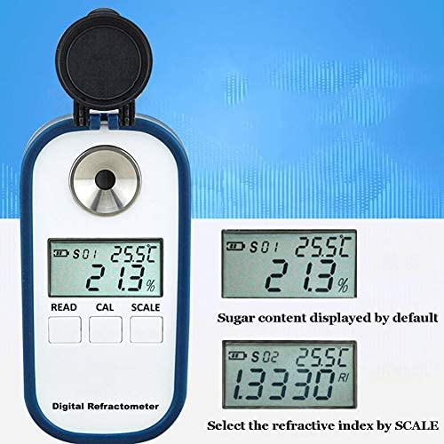 0-32/% Brix // 0-25/% Soy Juice Soymilk Concentration Meter XFY Brix Refractometer Apparatus for Soybean Product Processing and Soy Milk Sugar Measurement