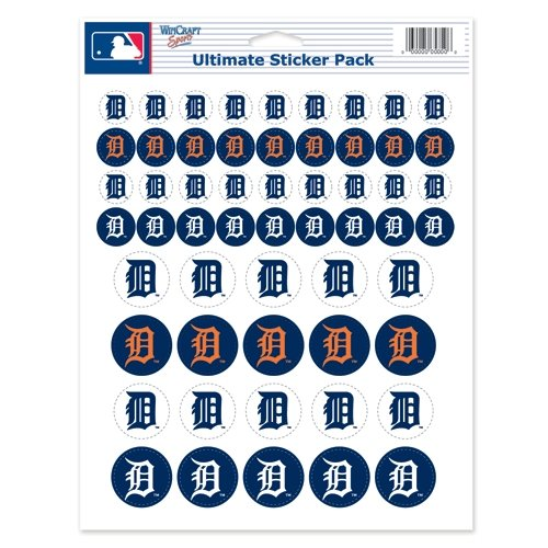 MLB Detroit Tigers Vinyl Sticker Sheet, 8.5