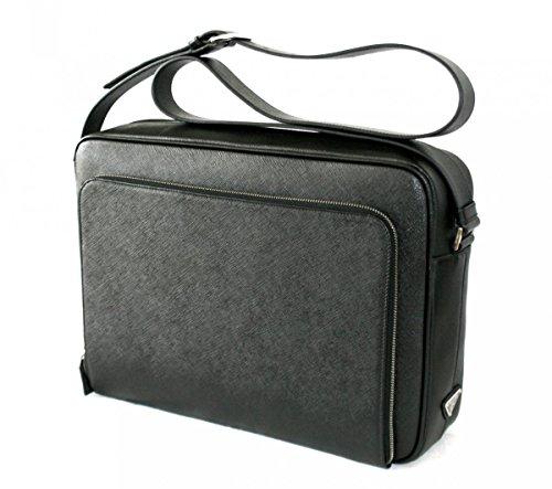 Prada-Mens-VA0998-Black-Saffiano-Leather-Messenger-Bag
