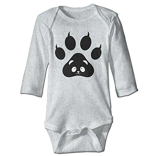Tigress Kung Fu Panda Costume (Alexx Panda Paw Face Baby Boy Girl Jumpsuit Bodysuit Long-sleeve Playsuit Ash 18 Months)