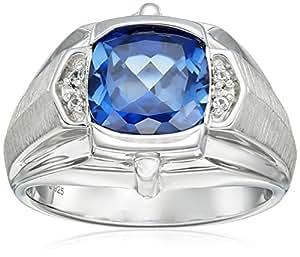 Blue Sapphire Ring For Men Price Men's Sterling Silver,...