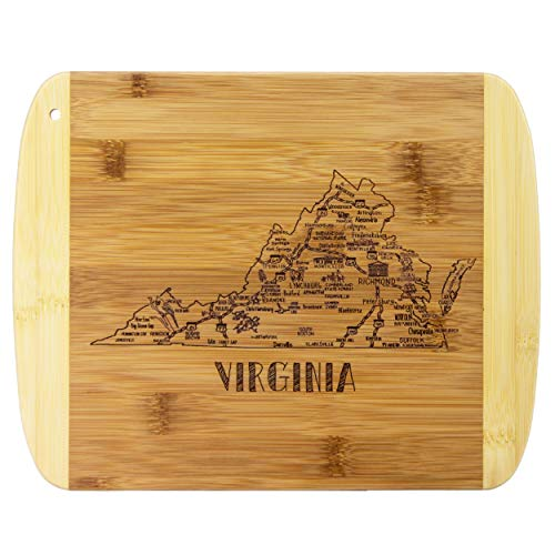 Totally Bamboo A Slice of Life Virginia Bamboo Serving and Cutting Board