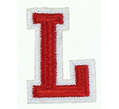 4.5cm Red Alphabet Letters Iron on Patches Crafts Sew on patch Applique