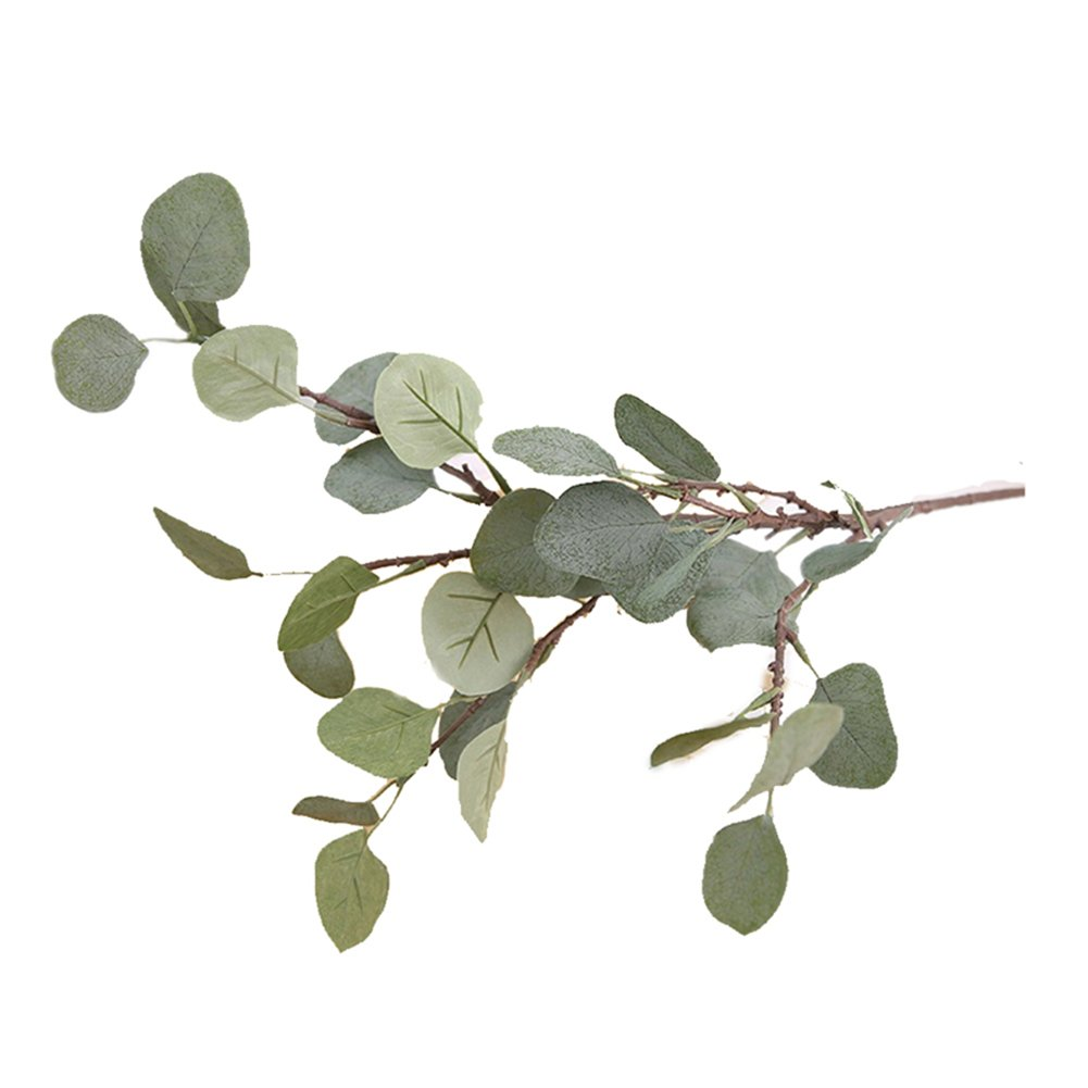 Freedi Artificial Hairy Pulp Simulation Plastic Leaf Plants Flowers Ornaments for Indoor Outdoor Garden Bathroom Decor (Grey)