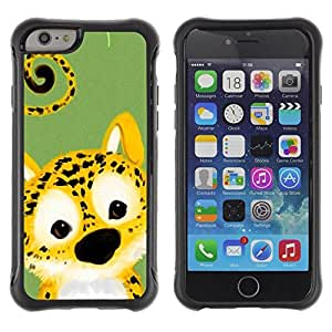 Suave TPU GEL Carcasa Funda Silicona Blando Estuche Caso de protección (para) Apple Iphone 6 / CECELL Phone case / / Cute Cheetah Leopard Animal /