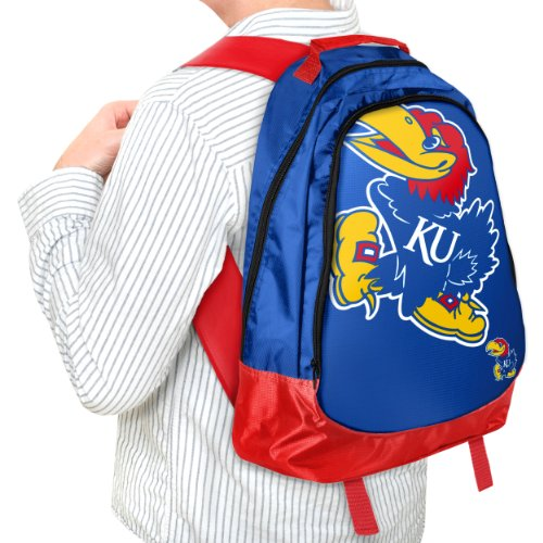 Forever Collectibles NCAA Kansas Jayhawks Core Structed Backpack (Kansas Jayhawks Backpack)