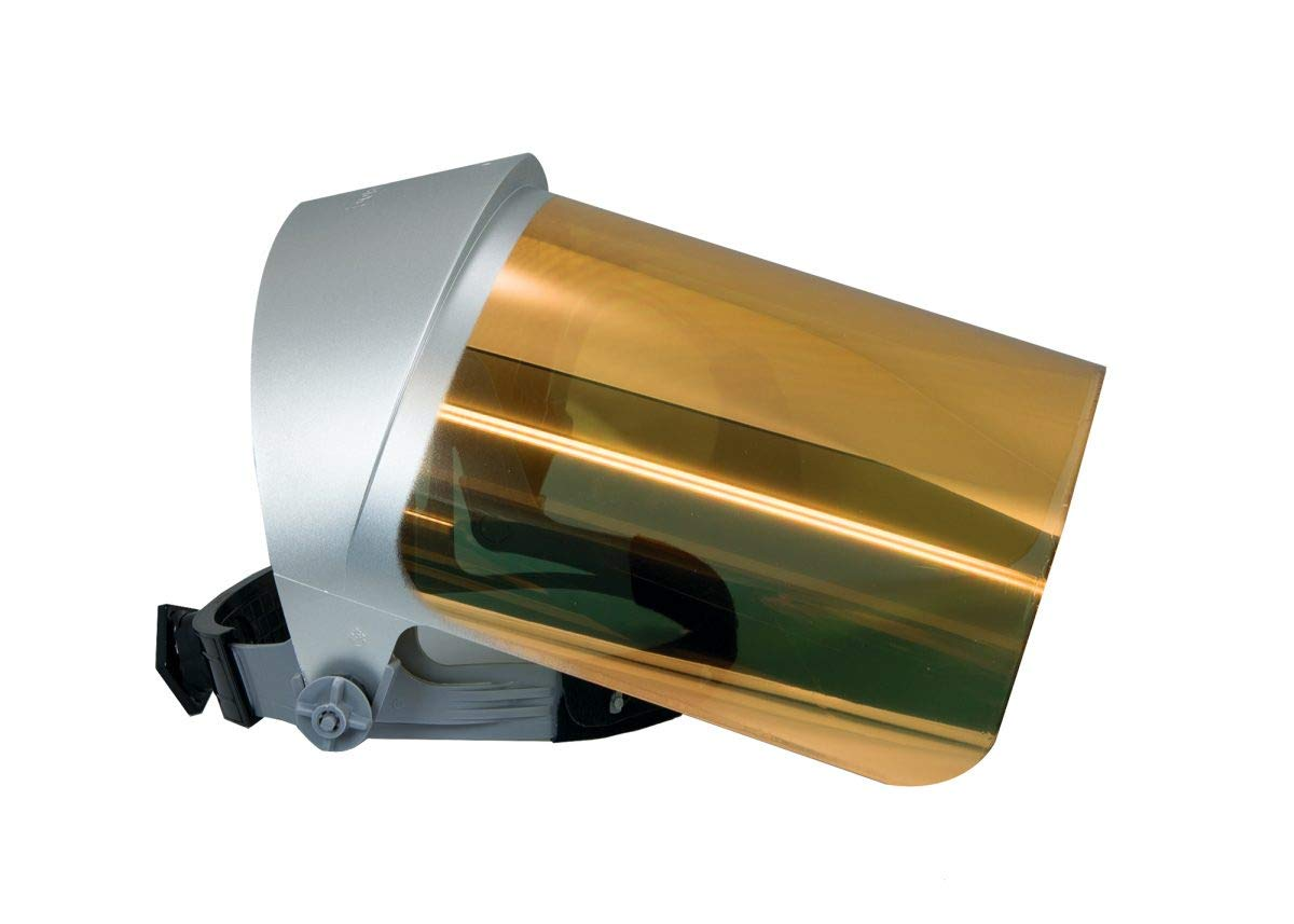 Clear Gold Heat Reflective Face-Fit Faceshield by Oberon Company
