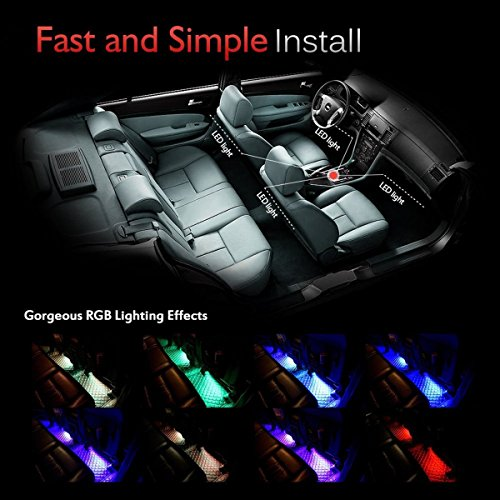 car led strip light ej 39 s super car 4pcs 36 led multi. Black Bedroom Furniture Sets. Home Design Ideas