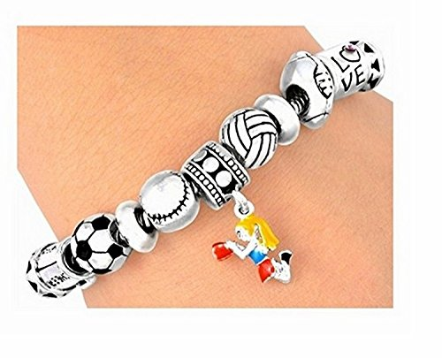 ''Cheerleader'' & Sports Lobster Clasp Bracelet by Lonestar Jewelry