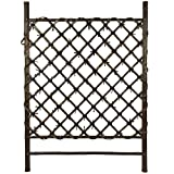 Oriental Furniture Dark Stained Japanese Style Garden Trellis