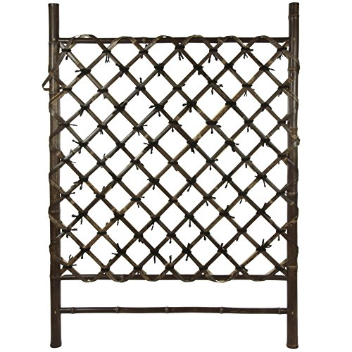 Oriental Furniture Dark Stained Japanese Style Garden Trellis by ORIENTAL FURNITURE