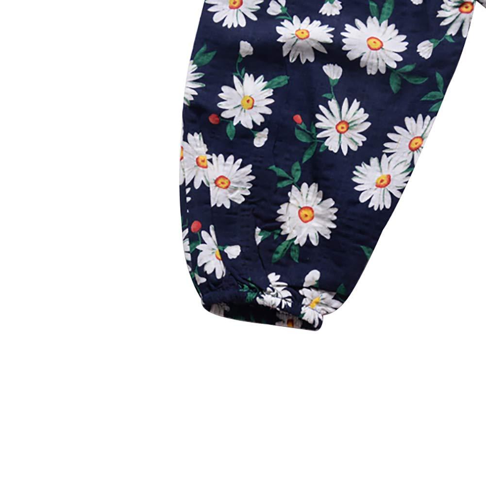 Loveablely B/éb/é Fille Bloomer Et/é Pantalon Imprim/é Floral Sarouel Ample Pantalon