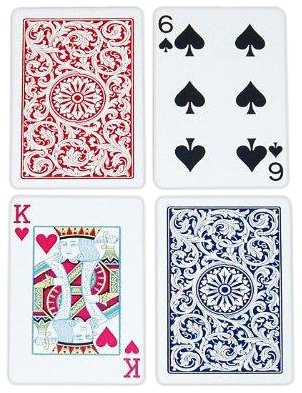 Copag Bridge Size Regular Index 1546 Playing Cards (Red Blue Setup) by Copag