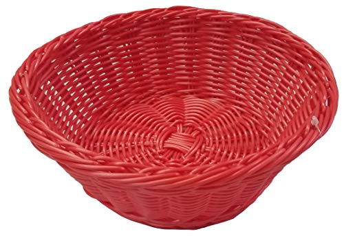 Woven Restaurant Table Top Bread Basket Red Tropical Color 1 Unit Island Theme