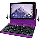 2017 Newest Premium High Performance RCA Voyager 7 16GB Touchscreen Tablet With Keyboard Case Computer Quad-Core 1.2Ghz Processor 1G Memory 16GB Hard Drive Webcam Wifi Bluetooth Android 6.0-Purple