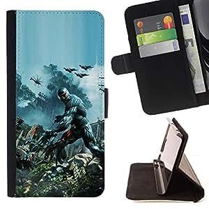 Momo Phone Case / Flip Funda de Cuero Case Cover - Crisis Future Soldier War - Samsung Galaxy J3 GSM-J300