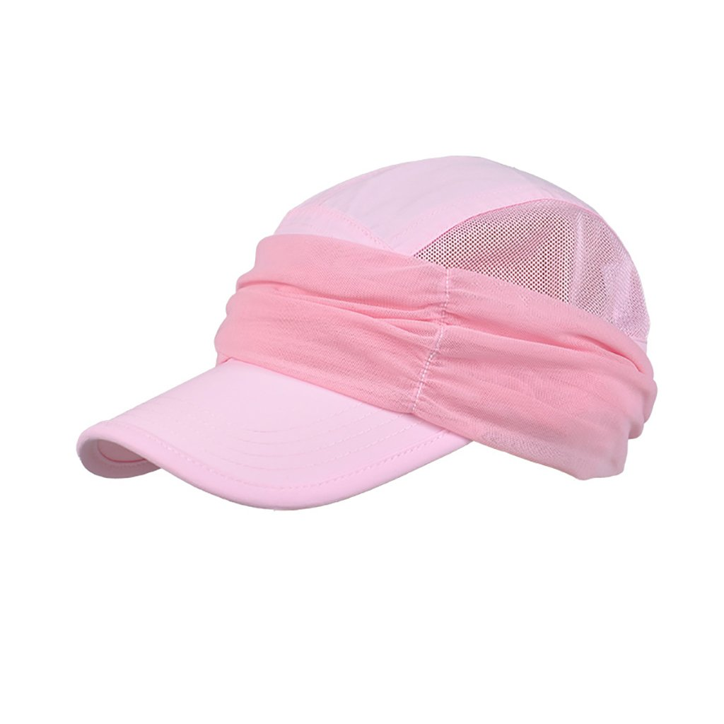 Colore : Bare Pink ZML Cappello UPF 50 Dome Casual Cappello da Sole Morbido Traspirante Anti-UV Wide Brim Cappello da Spiaggia Summer Floppy Visiera da Sole Tinta Unita per Signore/Ragazze
