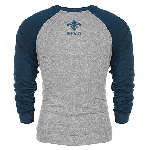 Coofandy Herren Langarmshirt Sweatshirt Freizeit Sport Pullover Loose Fit  Knotrastfarben mit 2-Tone Raglan ... e179fbbb2c