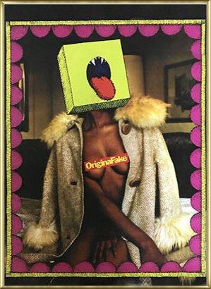ポスター カウズ Kaws/originalfake 額装品 アルミ製ベーシックフレーム(ゴールド) B07145XBYV ゴールド ゴールド