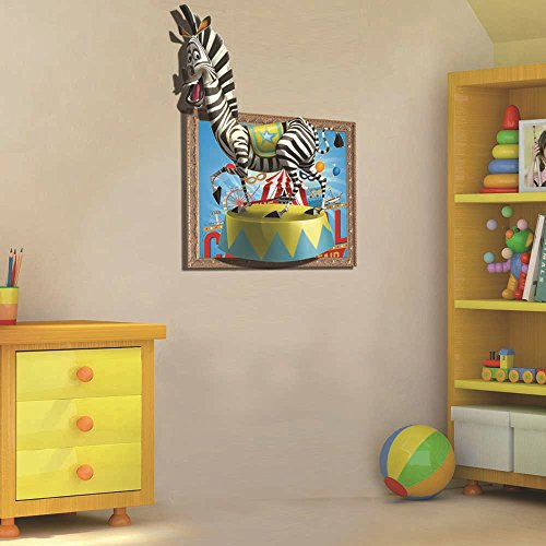SS-3D high-definition three-dimensional wall stickers ( Madagascar Marty ) Creative living room bedroom wall painting decorative painting cartoon kids room
