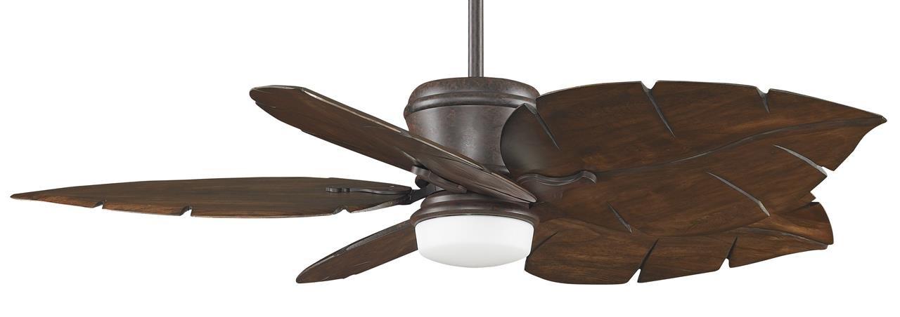 26-Inch Walnut Fanimation B6080WA Wide Oval Leaf Carved Wood Blade