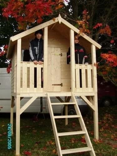 Tobi - Casa de juegos para jardín (incluye tobogán): Amazon.es: Jardín