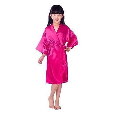 BOYANN Niños Niñas Kimonos Pijamas Batas Vestido de Novia Rosa Roja: Amazon.es: Ropa y accesorios