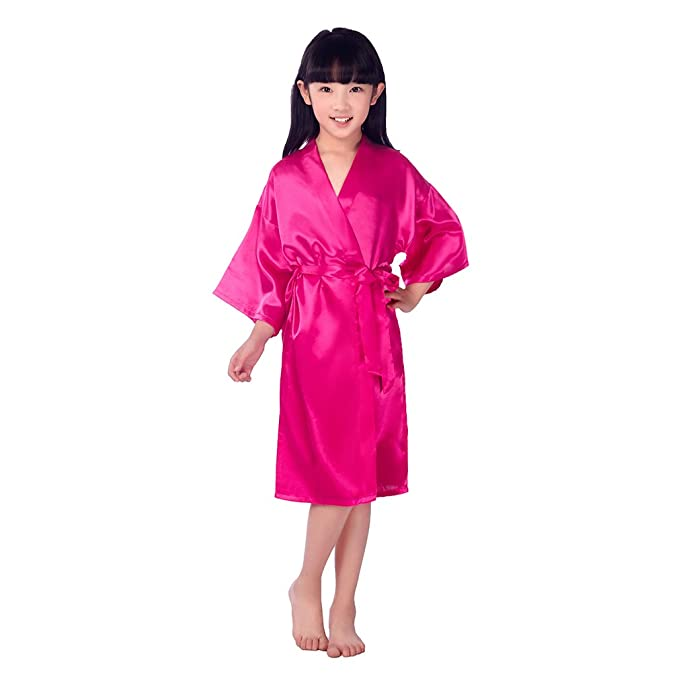 BOYANN Niños Niñas Kimonos Pijamas Batas Vestido de Novia Rosa Roja