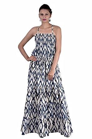 Amazon Indi Bargain Cotton Long Maxi Cum Evening Party Dress
